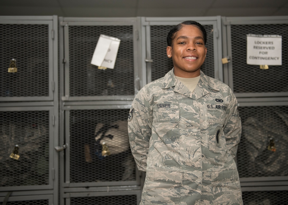 Congratulations to U.S. Air Force Senior Airman Toni Turner, 39th Security Forces Squadron base defense operations center controller, for winning the deployed Larger Than Life Award at Incirlik Air Base, Turkey, Dec. 10, 2018.
