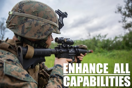 Cpl. Bo J. Bloom provides security at Kin Blue Training Area, Okinawa, Japan on Dec. 12, 2018 during 3rd Marine Logistics Group's Command Post Exercise 19.1. The purpose of MLG CPX 19.1 is to train 3rd MLG's command element, enhance the unit's warfighting capabilities and to assist the commanding general with maintaining situational awareness while making timely decisions. Bloom, a native of Thousand Oaks, California, is an assistant platoon sergeant with Jump Platoon, Headquarters Company, Combat Logistics Regiment 37. (U.S. Marine Corps photo by Lance Cpl. Terry Wong)