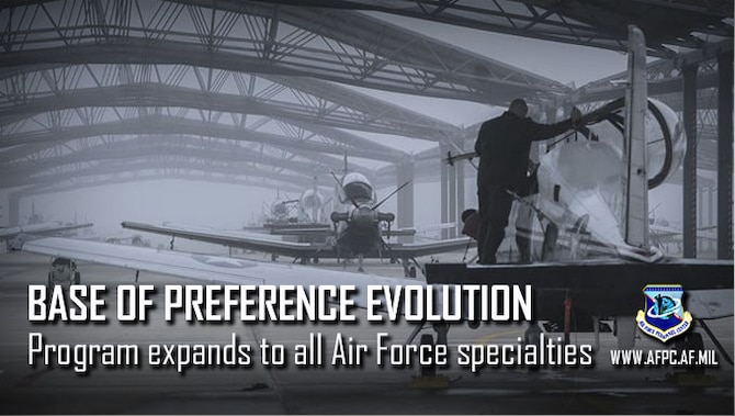Base of Preference Evolution; Program expands to all air force specialties