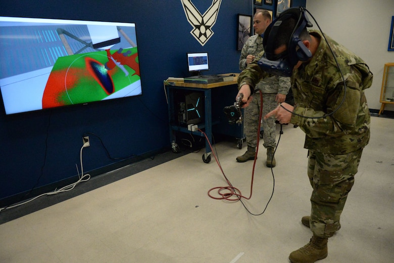 359th TRS Det. 1 installs 3D VR paint booth trainer