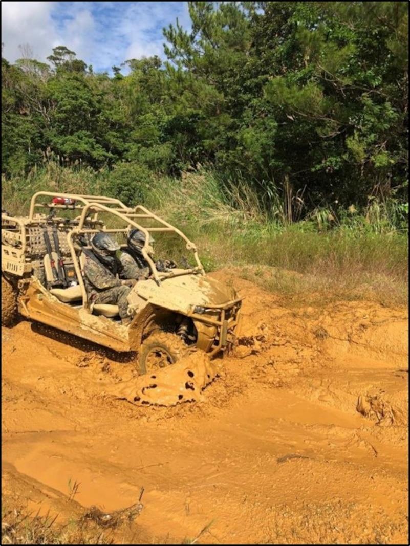 Island Warriors take part in Utility Task Vehicle (UTV) course