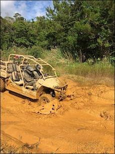 Island Warriors take part in Utility Task Vehicle (UTV) course