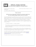 MODIFICATION OF REGIONAL CONDITION 3 (ACREAGE LIMITATION)