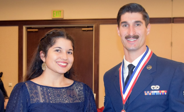 Senior Airman Andrew Kurzawinski of the 45th Aerial Port Squadron was awarded the John Levitow Award at the Airman Leadership School graduation, Dec. 13, 2018.