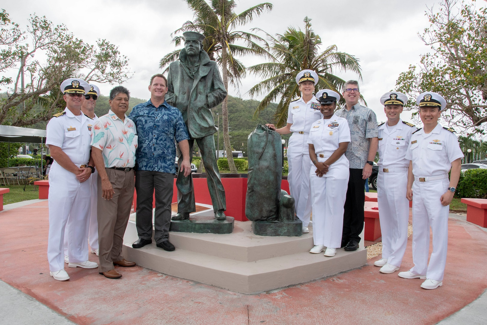 Unveiled: Lone Sailor Statue Stands Watch in Guam