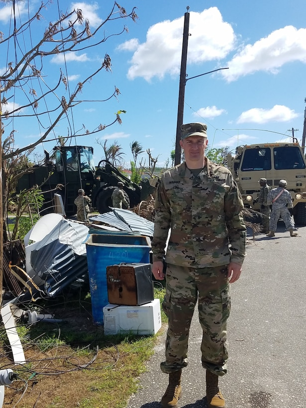 Army Reserve Soldier supports Emergency Operations after Super Typhoon Yutu