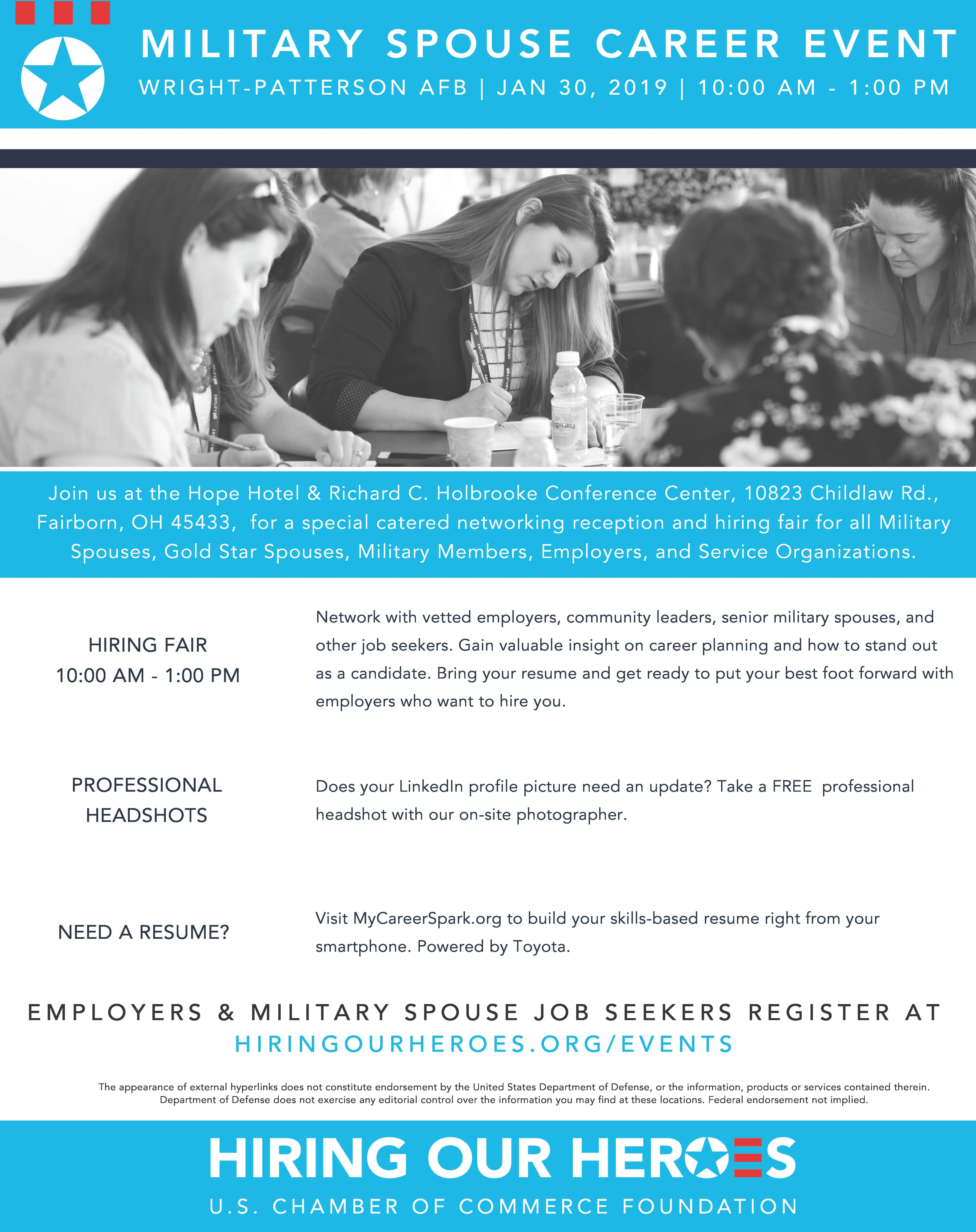 10 Special Needs Organizations You >> Hiring Our Heroes Military Spouse Hiring Fair Wright Patterson Afb