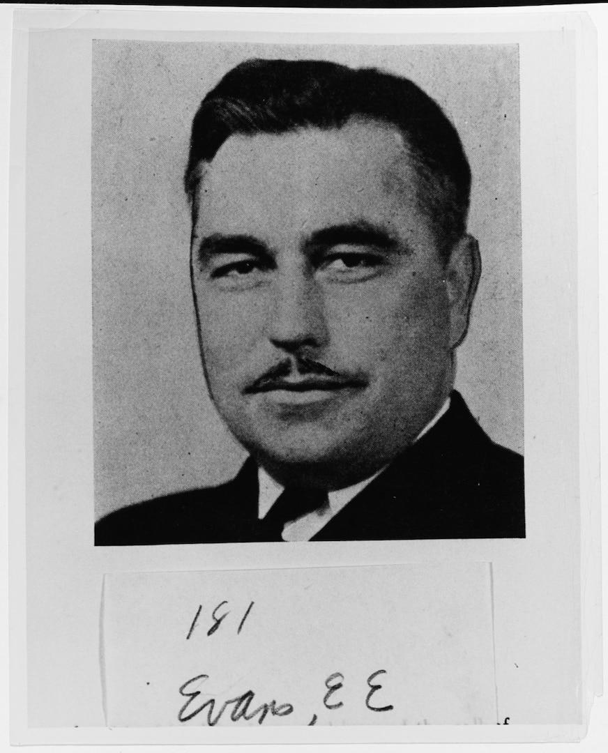 IMAGE: Commander Ernest Edwin Evans, USN, awarded the Medal of Honor for giving his life as Commanding Officer of USS JOHNSTON (DD-557) during the battle off Samar, 25 October 1944.