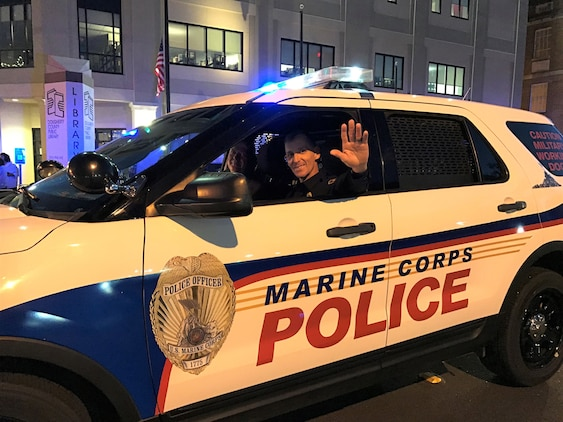 For the 28th consecutive year in a row, Marines joined City of Albany officials by leading the Celebration of Lights Parade in downtown Albany, Ga., Dec. 15.
