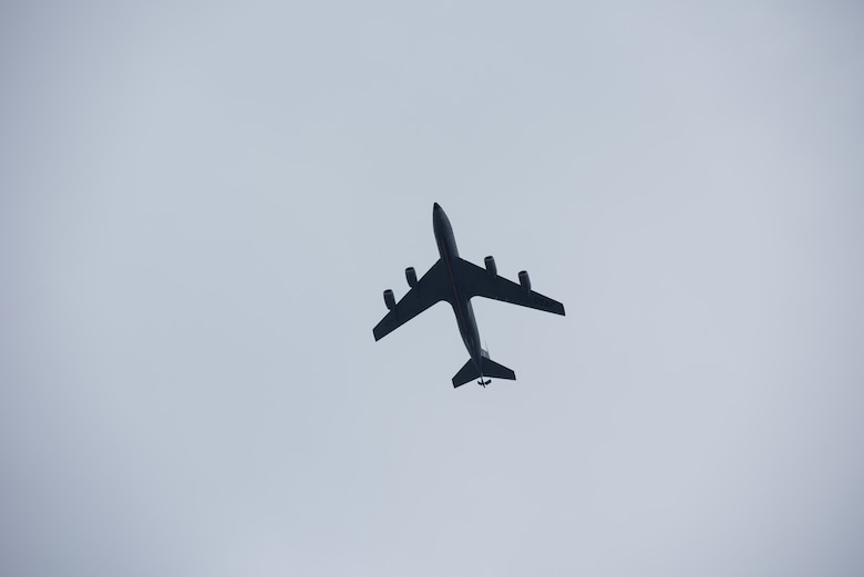 A KC-135 Stratotanker soars above McConnell Air Force Base, Kan, Dec. 18, 2018. The KC-135 has been refueling U.S. Air Force and ally aircraft for more than 62 years, enabling rapid global reach. (U.S. Air Force photo by Staff Sgt. Chris Thornbury)