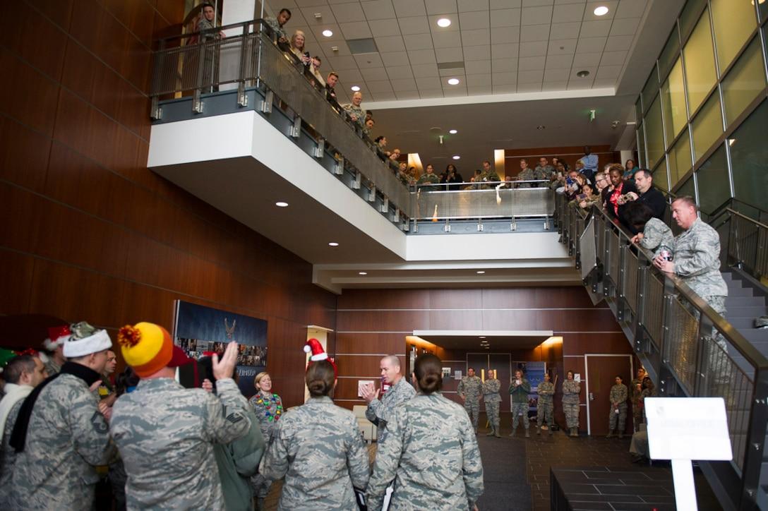 Singing Sergeants in the Jones building