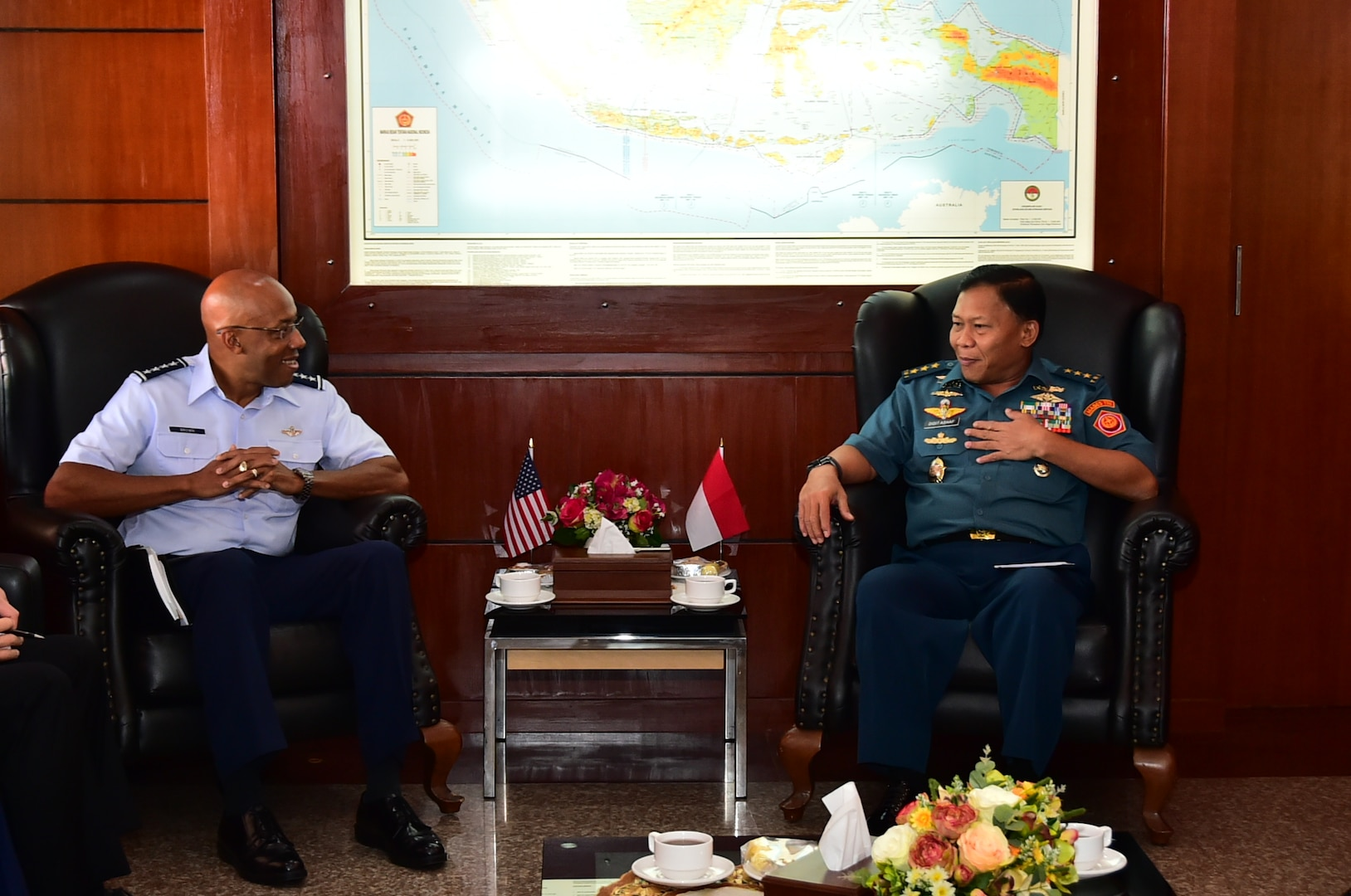 COMPACAF Visit Highlights 70 Years of U.S., Indonesia Relationship