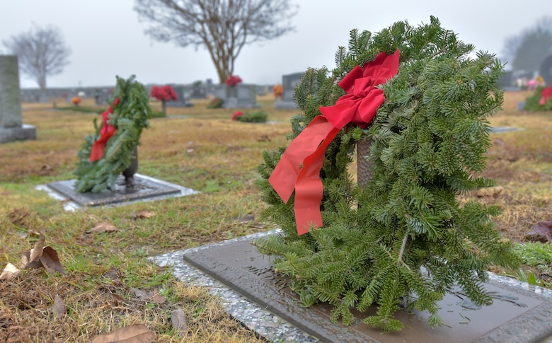 Members of SJAFB, Goldsboro community participate in Wreaths Across America