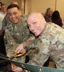 USAMEB Commander, Col. Oscar H. Pintado (left), joins USAREC Commander, Maj. Gen. Frank M. Muth