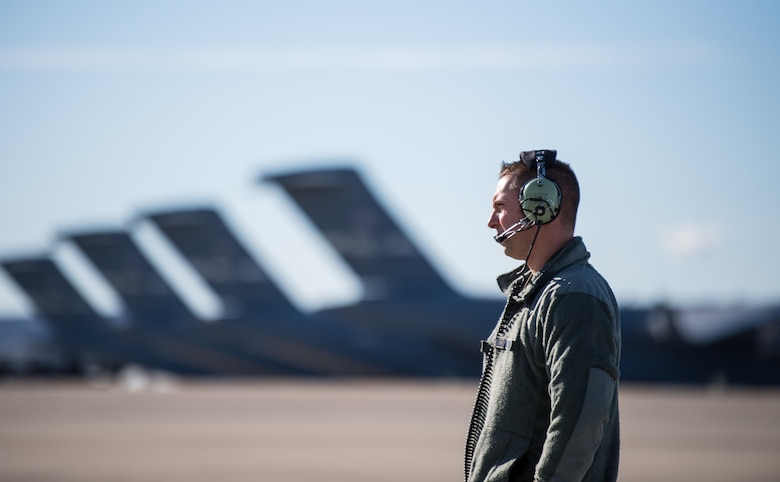 A C-5 flight engineer