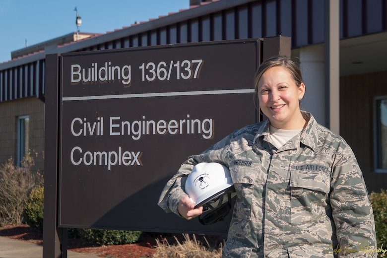 Portrait of Master Sgt. Jessica Anderson, the Charlie West Spotlight for December. (U.S. Air National Guard Photo by Senior Airman Caleb Vance)