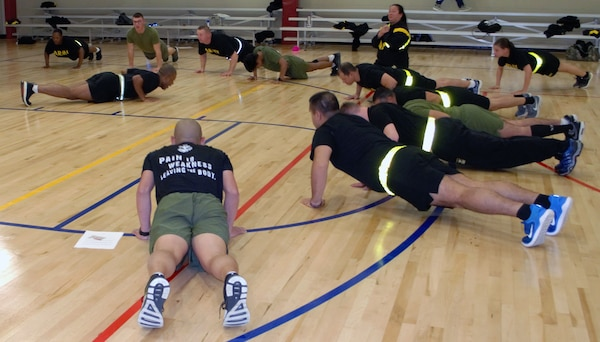 To commemorate the event which drove the nation into World War II, the recovering service members and supporting staff at the Joint Base San Antonio Warrior Transition Battalion conducted a unified physical training event to commemorate the 77th Pearl Harbor anniversary at the Fitness Center at the Medical Education and Training Campus Dec. 7, 2018.