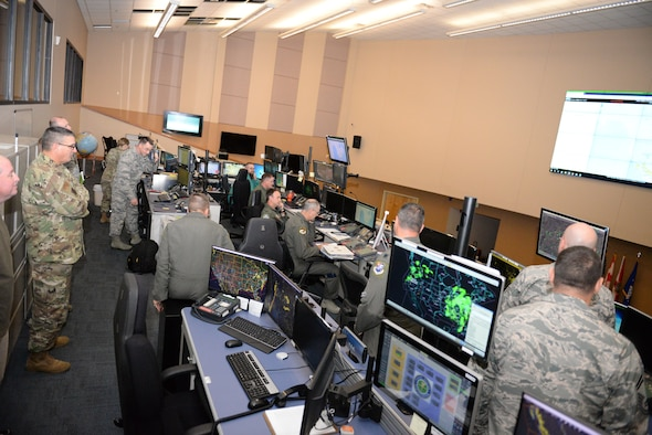 After 72 days operating from an alternate location due to Hurricane Michael, operations resumed Thursday evening at the Continental U.S. NORAD Region's 601st Air Operations Center. (U.S. Air National Guard photo by Maj. Andrew Scott)