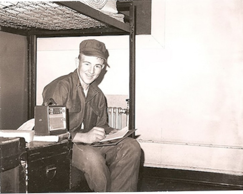 Mark Horning sits on a bunk in El Toro, California, in 1965. This was Horning's first assignment of many as a U.S. Marine. (Courtesy photo)