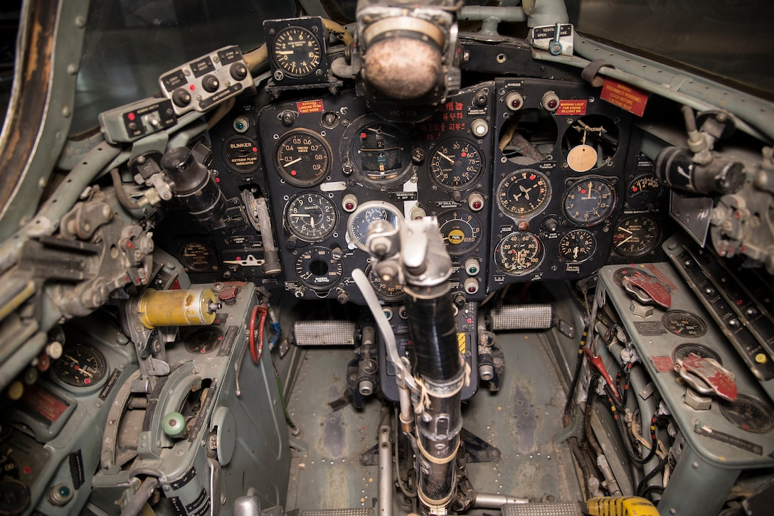 DAYTON, Ohio -- Mikoyan-Gurevich MiG-15 cockpit view in the Korean War Gallery at the National Museum of the United States Air Force. (U.S. Air Force photo by Ken LaRock)
