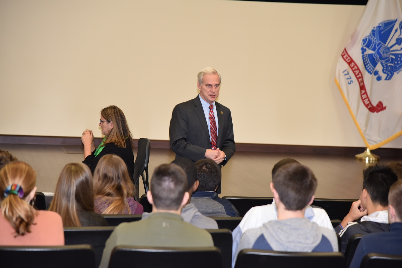 Central York high school students visit teacher's former employer to learn logistics