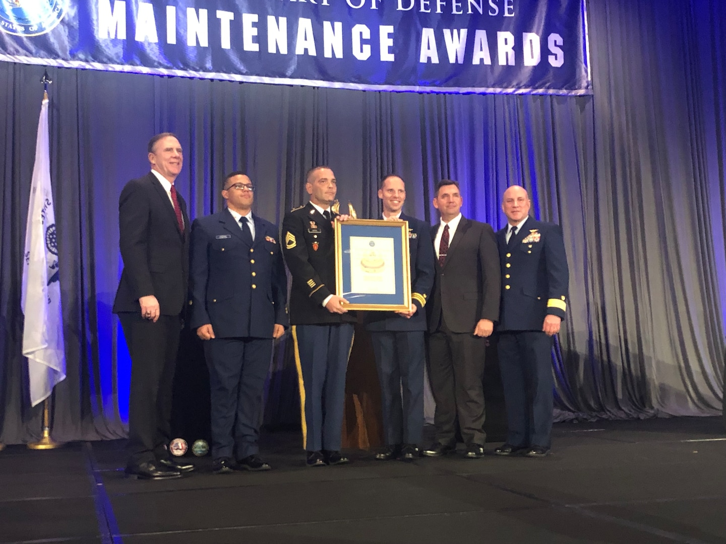 The Department of Defense presented the U.S. Southern Command-based Caribbean Basin Security Initiative Technical Assistance Field Team (CBSI-TAFT) with the 2018 Secretary of Defense Award for Excellence in Maintenance Training, Advice, and Assistance of Foreign Security Forces Operational during a ceremony in Tampa, Fla. Dec. 18.