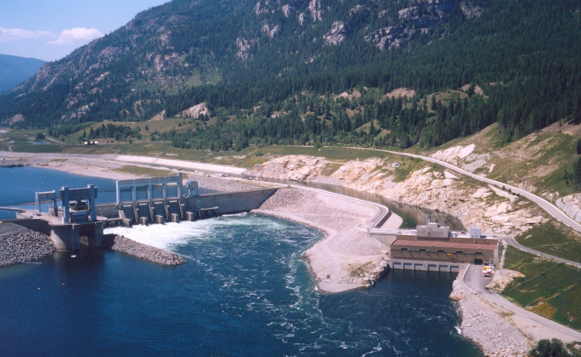 Arrow reservoir was created when the Hugh Keenleyside Dam was constructed in 1968 to bound the original Arrow Lakes and the Columbia River.