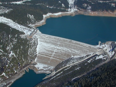 Mica Dam was built in 1973. Mica Dam, which forms Kinbasket Lake was built as one of three Canadian projects under the terms of the 1964 Columbia River Treaty and is operated by BC Hydro.