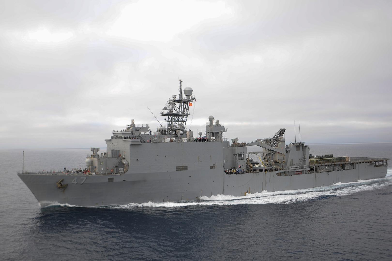 File photo of USS Rushmore (LSD 47)
