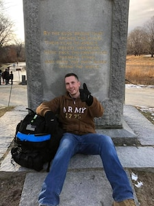 Army Reserve officer rucks to veterans' memorials to raise awareness