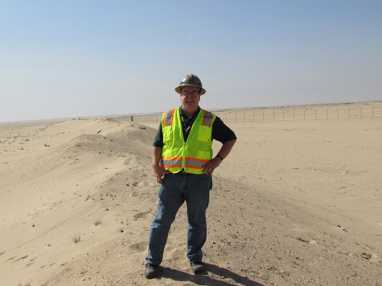 "The Middle East District's Robert ""Bob"" Fox has been awarded the 2018 Defense Acquisition Workforce Individual Achievement, Flexibility in Contracting and Development Innovation Award for Facilities Engineering. Fox is shown here while on temporary duty to a project site in Kuwait."