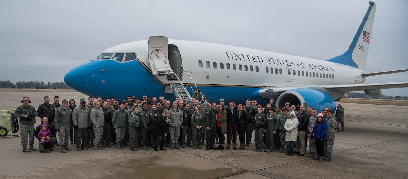 Final flight for outgoing commander.