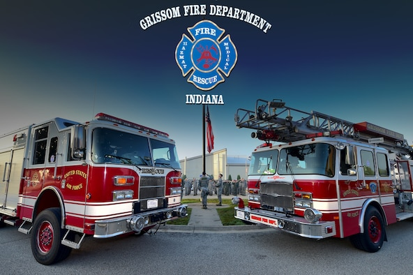 Grissom's fire department was accredited through the Commission on Fire Accreditation International in 2016, becoming just one of 26 Air Force fire departments to achieve that status. (U.S. Air Force graphic / Senior Airman Harrison Withrow)
