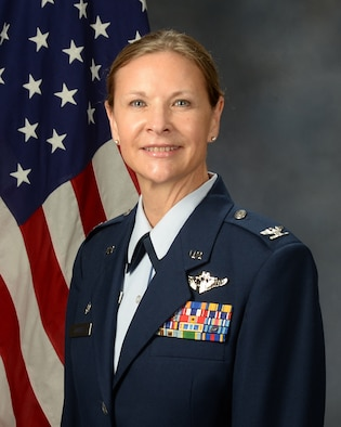 Col. Kristina Forbes, Commander of the 446th Aeromedical Staging Squadron
