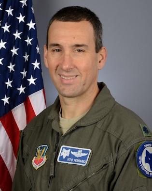 Portrait of U.S. Air Force Lt. Col. Michael Ferrario, the 157th Fighter Squadron commander