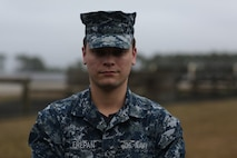 """Seaman Joseph Frepan, a hospitalman assigned to Parris Island starts his day at midnight, hours before any recruits wake up, to prepare medical supplies for the next company's Crucible. The training doesn't start until he arrives on site.  As one of many U.S. Navy Corpsmen assigned to Parris Island, Frepan's top priority is the recruits' physical and mental welfare   """"Most people don't understand the amount of time that it takes for us to be fully prepared for [the crucible] The most rewarding part about being a Corpsman is when you get to help someone. Even though a lot of the time you aren't recognized for it, it's still helping people who need it, and it's worth all the effort."""""""
