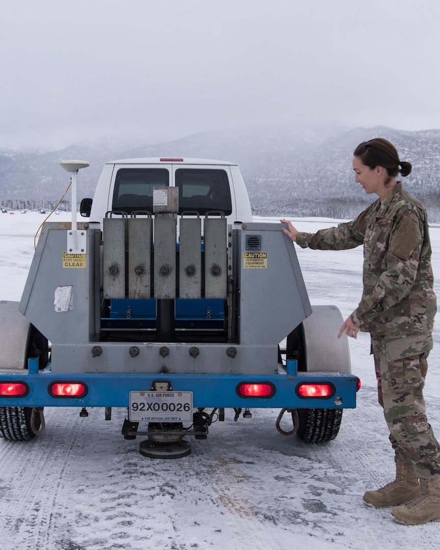 Evaluation team uses non-destructive testing on JBER Airfields