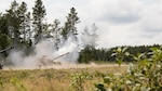 Crew members with Battery C, 1st Battalion, 201st Field Artillery, West Virginia Army National Guard, fire an M109A7 Howitzer during exercise Northern Strike at Camp Grayling, Mich., on Aug. 8, 2018. The 201st FA is providing fire support operations during the joint multinational combined arms live fire exercise.