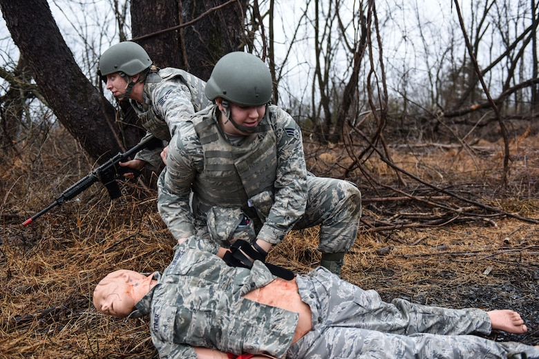 193rd Special Operations Wing Airmen conduct Tactical Combat Casualty Care course.