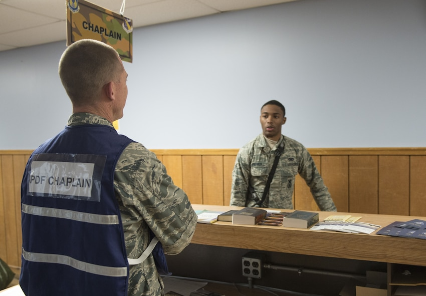 Airman processing deployment line