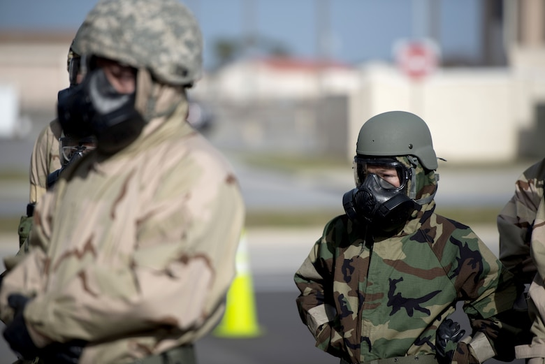 U.S. Air Force Airmen assigned to the 6th Air Mobility Wing participate in Ability to Survive and Operate training (ATSO) at MacDill Air Force Base, Fla., Jan. 27, 2018.