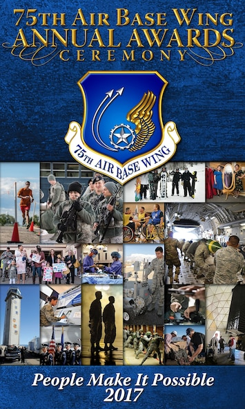 2017 75th Air Base Wing Annual Awards Ceremony graphic (U.S. Air Force graphic by Kent Bingham)