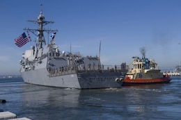 San Diego Based Destroyer Welcomes New Captain in Guam