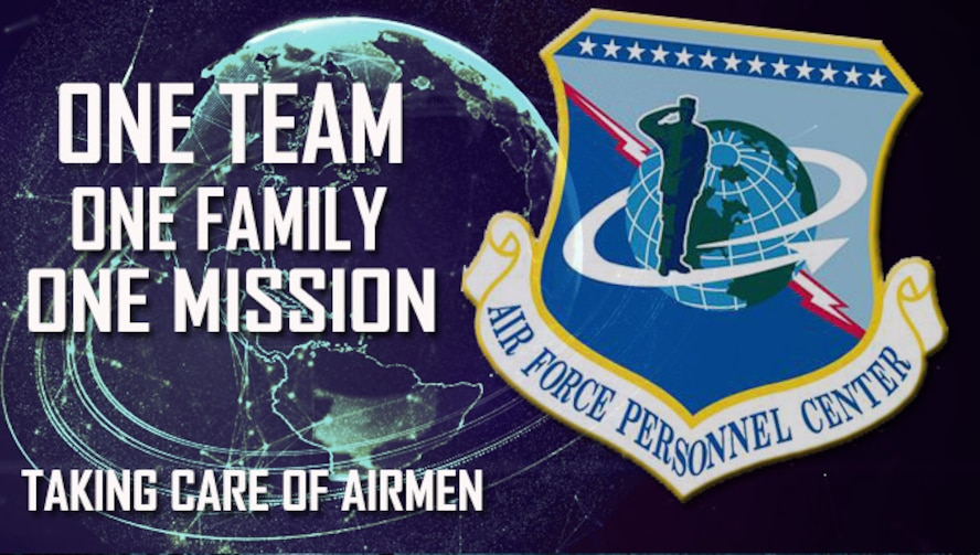 One team, one family, one mission graphic