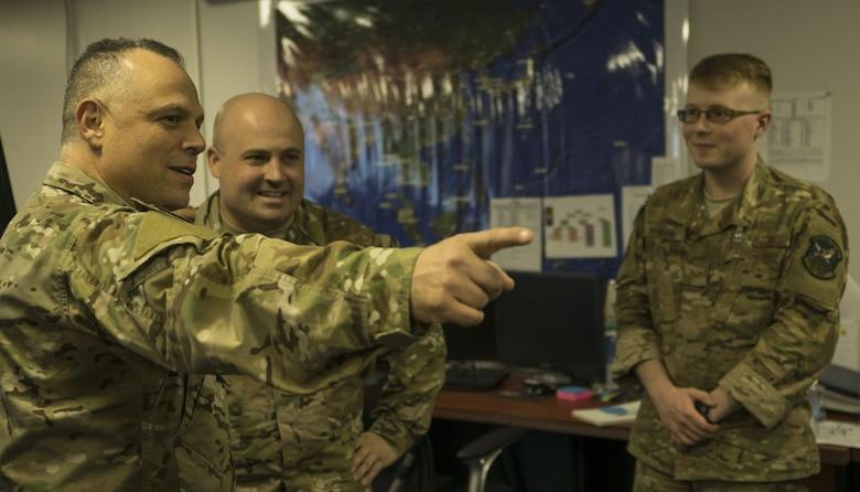 USTRANSCOM command senior enlisted leader visits the 353rd SOG