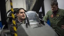Navy pilots learn F-16 egress