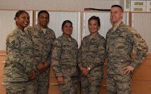 Sergeants of the 786 Force Support Squadron Base Relocations Office pose for a photo Jan. 31, 2018 on Ramstein Air Base. According to Tech. Sgt. Hilt, the new Commander Advanced Notification Process will establish a greater connection with a commander and their Airmen.