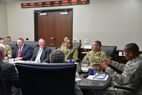 Distribution leadership hosts Gen. Darren McDew, USAF, USTRANSCOM Commander