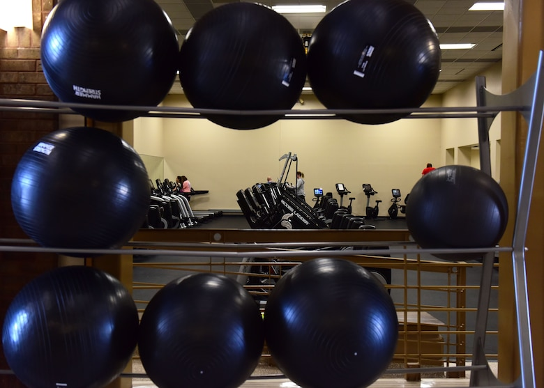 A variety of exercise equipment is available for use in the Fitness Center at Whiteman Air Force Base, Mo., Jan. 24, 2018. The cardiovascular room is equipped with stair steppers, treadmills, recumbent bikes and cross trainers, which are fitted with cardio-theater featuring cable television and satellite radio. (U.S. Air Force photo by Staff Sgt. Danielle Quilla)