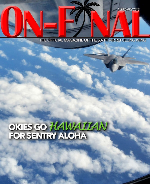 The February 2018 edition of the On-final, the official magazine of the 507th Air Refueling Wing at Tinker Air Force Base, Oklahoma.